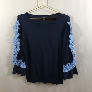 Halogen Ruffle Sleeve Sweater